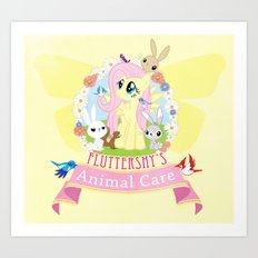 Fluttershy's Animal Care Art Print