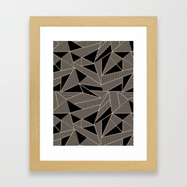 Geometric Abstract Origami Inspired Pattern Framed Art Print