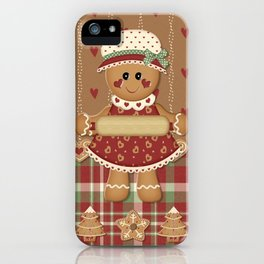 Gingerbread Country Christmas iPhone Case
