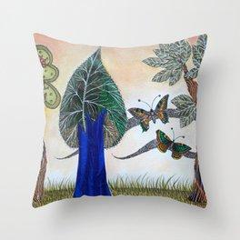 Butterflies in love II Throw Pillow