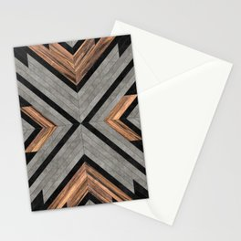 Urban Tribal Pattern No.2 - Concrete and Wood Stationery Cards