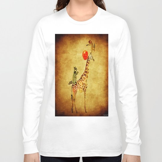 By playing on the giraffe Long Sleeve T-shirt