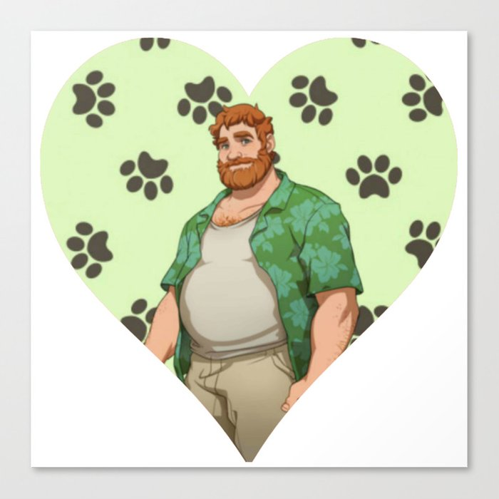 Dream Daddy Brian Harding Canvas Print By Raybound420 Society6 How to hang a canvas painting. society6