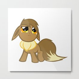 My Little Eevee Metal Print