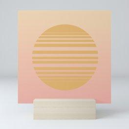 Vintage Sunset / Sunrise Gradient II Mini Art Print