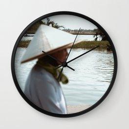 Vietnamese women walking in Hoi An Wall Clock