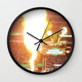 MX Supercross Explosive Fire Wall Clock