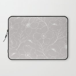 Floral Simplicity - Gray Laptop Sleeve