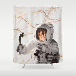 Fuego-naut Shower Curtain