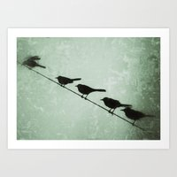as we watch one escapes Art Print