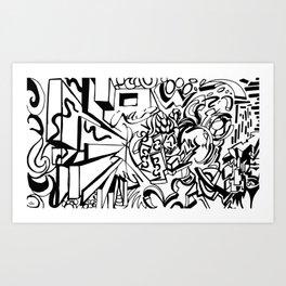 Ambigram Madness Art Print