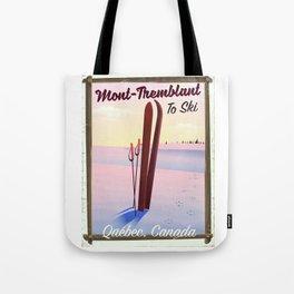 Mont-Tremblant Canada ski travel poster Tote Bag