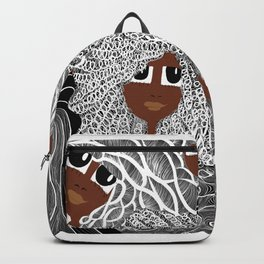 Face and Hair Backpack