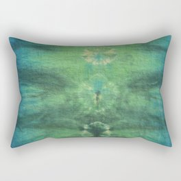 Tie Dye in Blue and Green 4 Rectangular Pillow