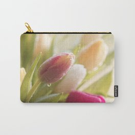 Bouquet of tulips spring flowers in pastel Carry-All Pouch