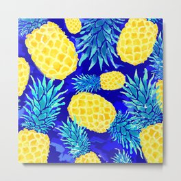 Pineapple Love Metal Print