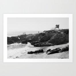 Leo Carrillo State Beach | Malibu California | Black and White Photography | Malibu Photography Art Print