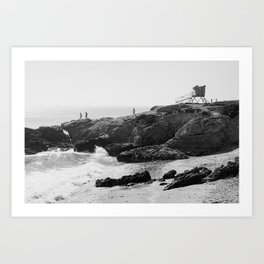 Leo Carrillo State Beach | Malibu California | Black and White Photography | Malibu Photography Art Print