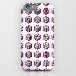 Isometric Cubes iPhone Case