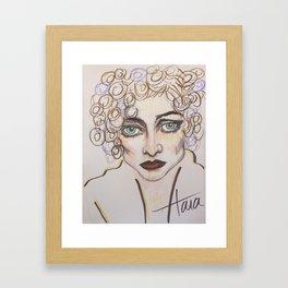 joan lavender and brown Framed Art Print