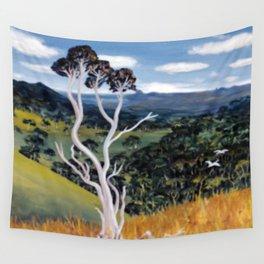 Glasshouse Mountains, Qld. Australia        by Kay Lipton Wall Tapestry