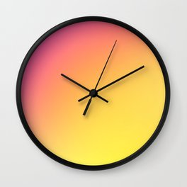 PEACH / Plain Soft Mood Color Blends / iPhone Case Wall Clock