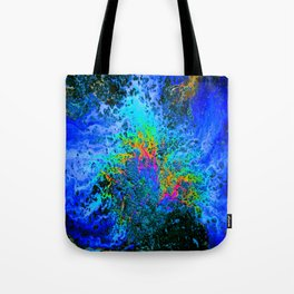 Oil On Pavement: Eruption Tote Bag