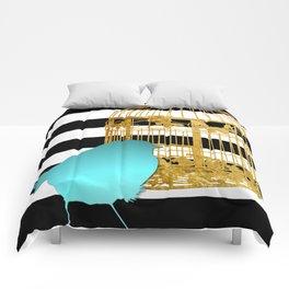Bird Silhouette & Golden Cage Comforters