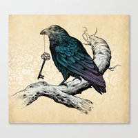 key Canvas Prints featuring Raven's Key by Rachel Caldwell