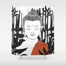 Life of Buddha Shower Curtain