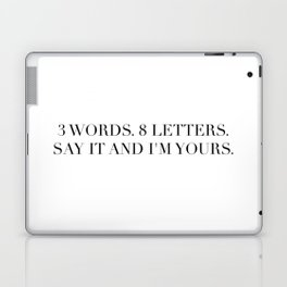 3 WORDS 8 LETTERS Laptop & iPad Skin