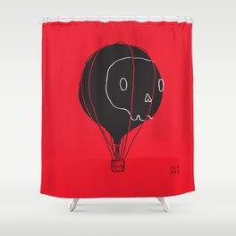 Hot Air Balloon Skull Shower Curtain