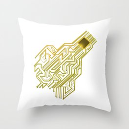 CPU heart for Engineers, Geeks and IT professionals Throw Pillow