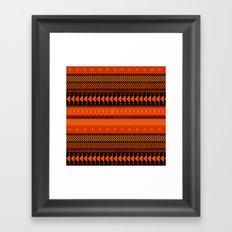 Under the Volcano - tribal geometrics Framed Art Print