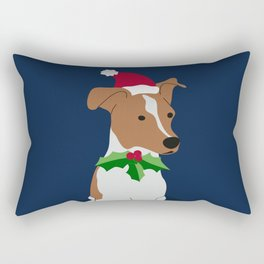 Christmas pup Rectangular Pillow