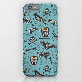 Halloween X-Ray Blue iPhone Case