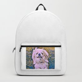 pekingese at the park Backpack