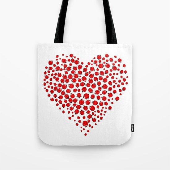Ladybug heart Tote Bag