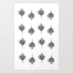 Dried Leaf Pattern Art Print