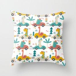 Amazing Cool Dino Design Throw Pillow