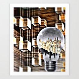 BETWEEN THE DARK AND THE LIGHT Art Print
