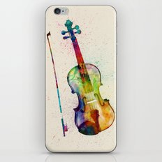 Violin Abstract Watercolor iPhone & iPod Skin