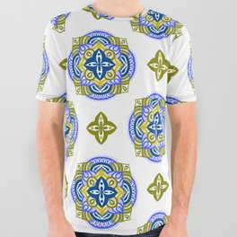 neo mandala - blue / green All Over Graphic Tee