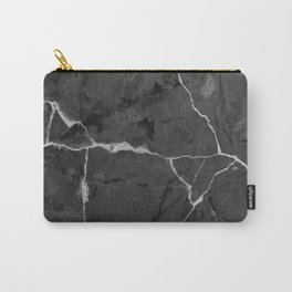 Black minimal marble Carry-All Pouch