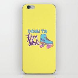 Down to Free Skate iPhone Skin