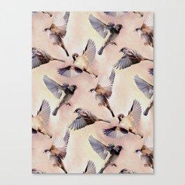 Sparrow Flight Canvas Print