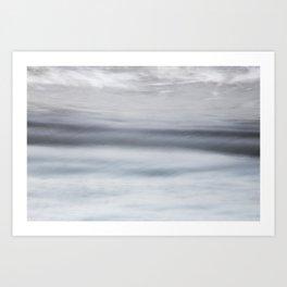 Sea motion, abstract Art Print