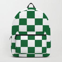Checkered (Dark Green & White Pattern) Backpack
