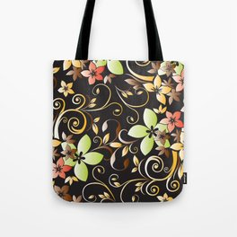 Flowers wall paper 4 Tote Bag