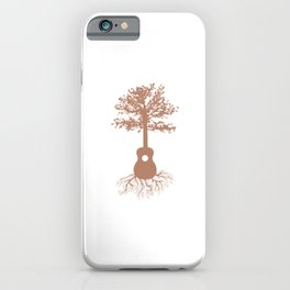 Guitarists Music Bands Environment Nature Lovers Forest Guitar Tree Gift iPhone Case